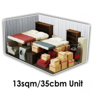13 SQM x 35 CBM Storage Unit
