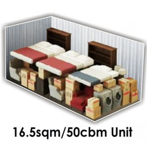 16.5 SQM x 50 CBM Storage Unit